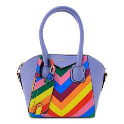 Zipper and Colored Design Women's Tote Bag - Alternative Measures -