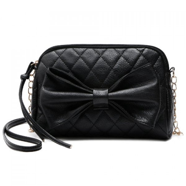Gothic Lolita Black Bow Hand Bag - Alternative Measures