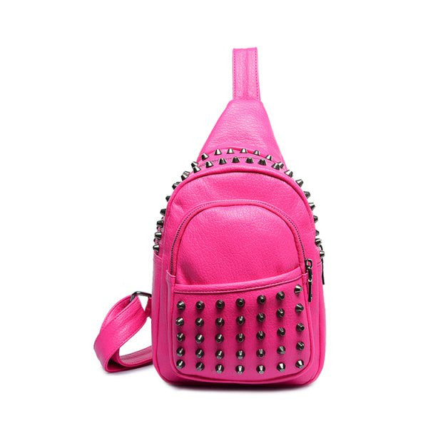 Riveted Rocker Backpack - Pink - Alternative Measures -  - 1