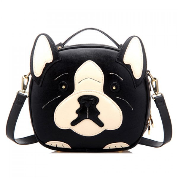 Boston Terrier Dog Black & White Cross-Body Purse - Alternative Measures