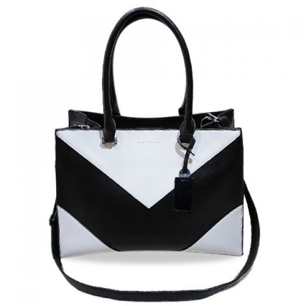 Chevron Black & White Shoulder Bag/Hand Bag - Alternative Measures