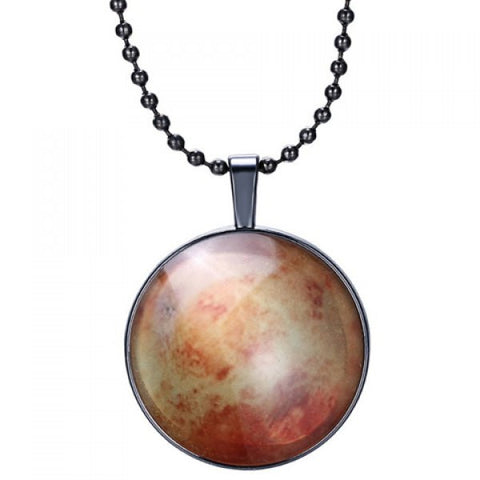 Delicate Round Pendant Necklace For Men