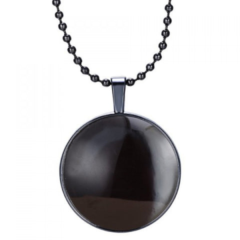 Stylish Noctilucence Faux Gem Alloy Pendant Necklace For Men