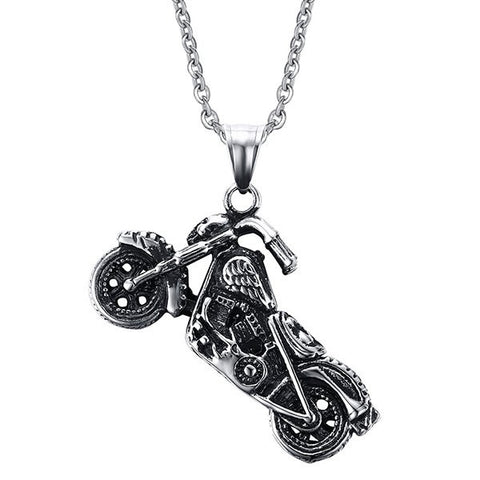 Vintage Motorcycle Shape Necklace For Men