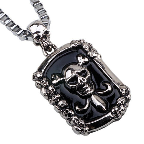 Vintage Skull Pirate Pendant Necklace For Men