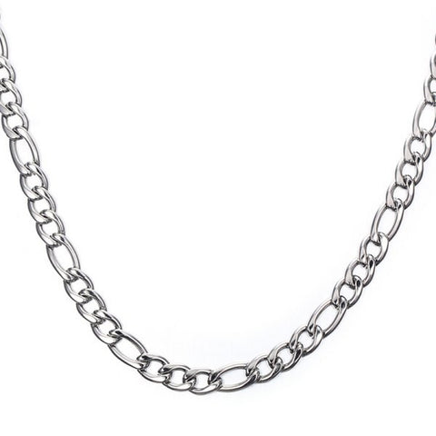 Stylish 50CM Length Silvery Thick Figaro Chain Necklace For Men