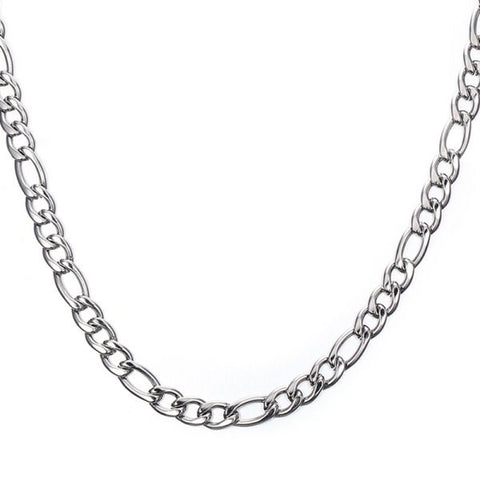Stylish 60CM Length Silvery Thick Figaro Chain Necklace For Men