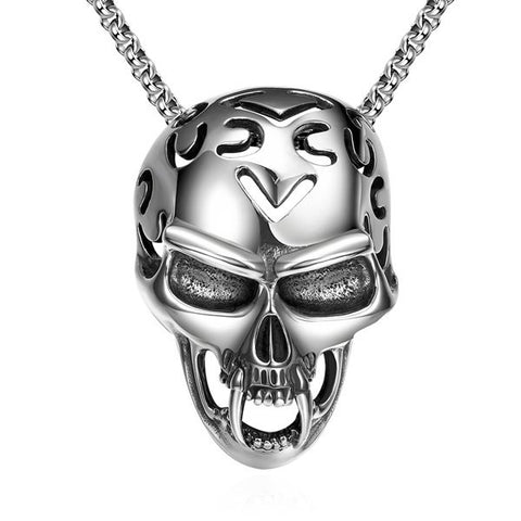 Vintage Devil Skull Necklace