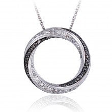 0.50ct TDW Black & White Diamond Eternity Necklace - Alternative Measures