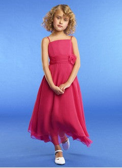 A-Line/Princess Ankle-Length Chiffon Flower Girl Dress With Ruffle Flower(s) - Alternative Measures
