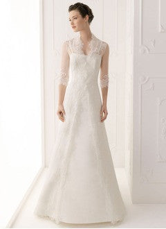 A-Line/Princess Chapel Train Satin Wedding Dress - Alternative Measures