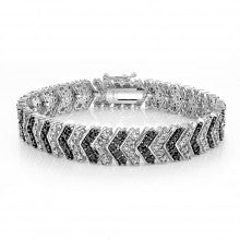 1 Carat Black & White Diamond Chevron Bracelet - Alternative Measures