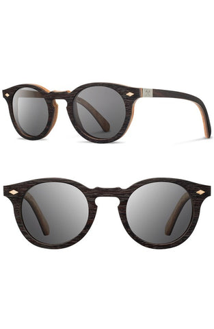 'Florence' 49mm Polarized Wood Sunglasses - Alternative Measures