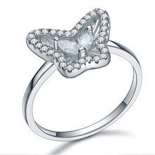 100% Solid 925 Sterling Silver Cubic Zirconia Ring for Women Fine Jewelry - Alternative Measures