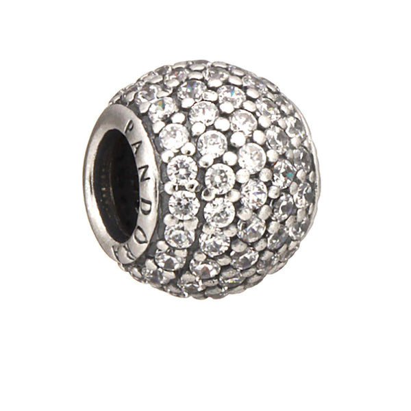 Authentic Pandora Jewelry - Authentic Pandora Sterling Silver Pavé Lights Charm Bead - Clear CZ - Alternative Measures