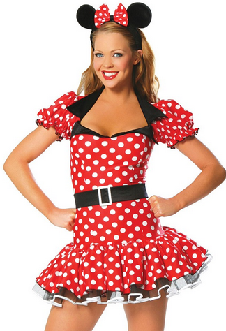 After the Rain Lingerie - y Red Minnie Mouse Women's Halloween Costume Sexy Gifts Valentine's Day Wife Honeymoon - Alternative Measures