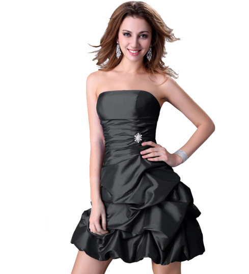Women's Formal Dress - Bridesmaids - Prom - Party - Short Black - Brides & Bridesmaids - Wedding, Bridal, Prom, Formal Gown - Alternative Measures -