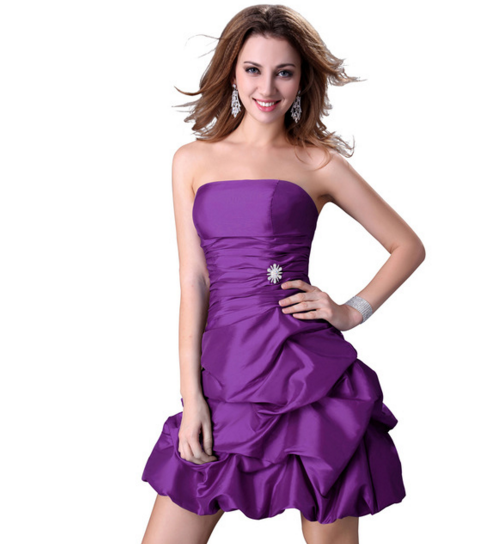 Women's Formal Dress - Bridesmaids - Prom - Party - Short Purple - Brides & Bridesmaids - Wedding, Bridal, Prom, Formal Gown - Alternative Measures -