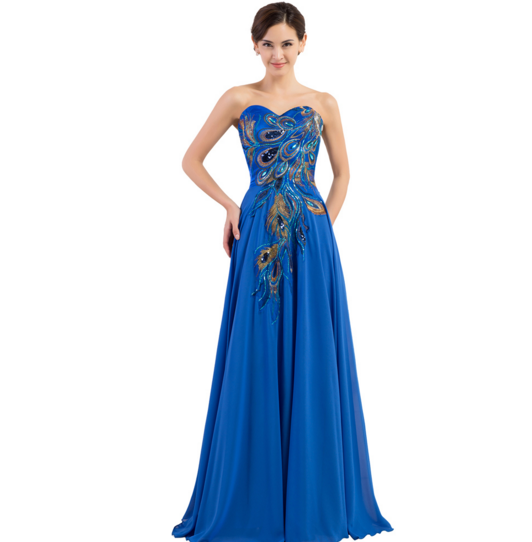 Royal Blue Women's Formal Dress - Bridesmaids - Prom - Party - Brides & Bridesmaids - Wedding, Bridal, Prom, Formal Gown - Alternative Measures -