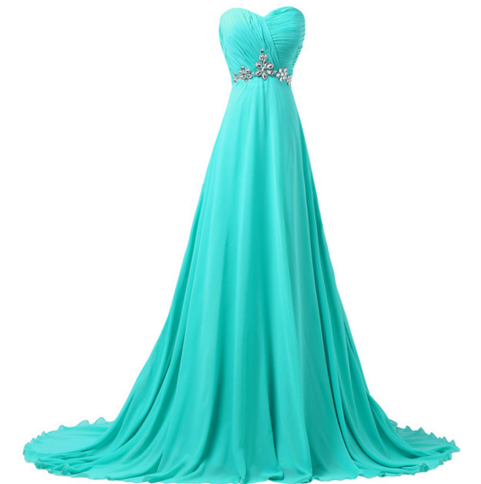 Turquoise Women's Long Formal Dress - Bridesmaids - Prom - Party - Brides & Bridesmaids - Wedding, Bridal, Prom, Formal Gown - Alternative Measures -