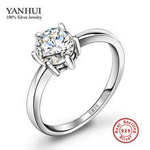 100% Real Solid Silver Wedding Rings for Women Set 5mm Sona CZ Diamond Engagement Ring 925 Pure Silver Rings Fine Jewelry JZR025 - Alternative Measures