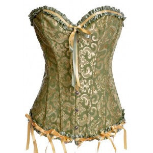 After the Rain Lingerie - Ruffles Overbust Corset Sexy Gifts Valentine's Day Wife Honeymoon - Alternative Measures