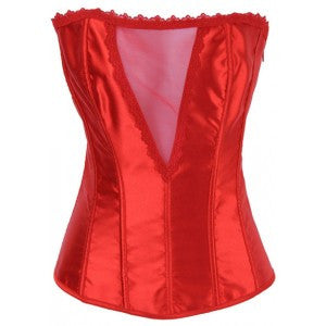 After the Rain Lingerie - y Red Satin Corset - OL1265-2 Sexy Gifts Valentine's Day Wife Honeymoon - Alternative Measures