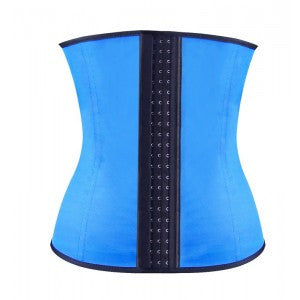 After the Rain Lingerie - Blue Steel Bone Underbust Latex Corset Waist Training Cincher Sexy Gifts Valentine's Day Wife Honeymoon - Alternative Measures