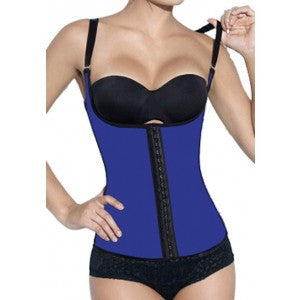 After the Rain Lingerie - Womens Blue Latex Waist Trainer Cincher Corset Shapewear with Straps Sexy Gifts Valentine's Day Wife Honeymoon - Alternative Measures