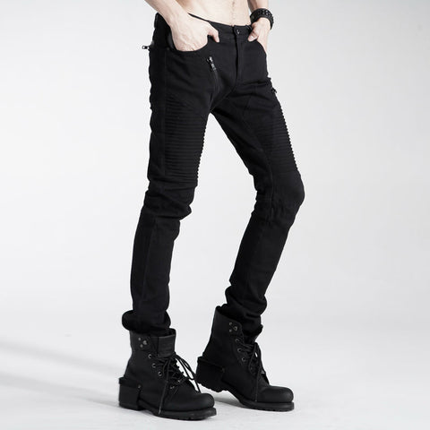 Casual Men Pants Punk rave Gothic Black Handsome Alternative Measures - Alternative Measures