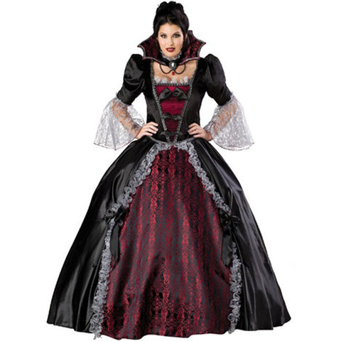 Queen Of The Vampires Costume Adult Halloween Costumes For Women Y Cosplay Black Gothic Lolita Dress