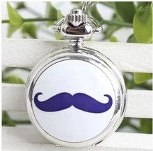 10 pcs /lot Fashion design beard pattern Enamel watches Lovely Gifts for children pendant Necklace pocket watch - Alternative Measures