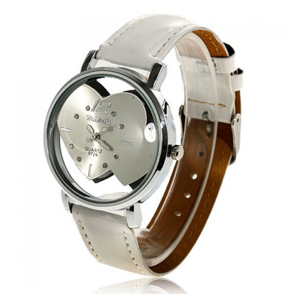 White Heart Analog Wristwatch - Alternative Measures -