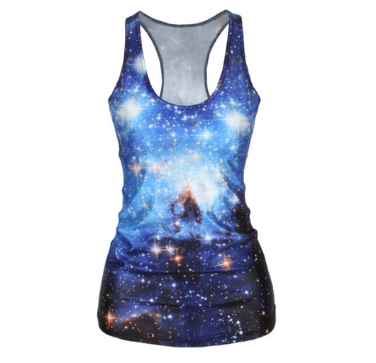 Pop Culture Printed Camisole Tank Top - The Cosmos - Alternative Measures -