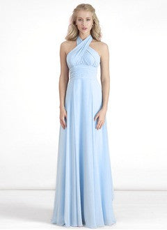 A-Line/Princess Floor-Length Chiffon Prom Dress With Ruffle - Alternative Measures