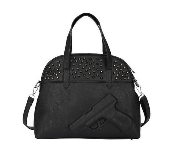 Black Gun Women's Handbag Purse Shoulder Bag - Alternative Measures