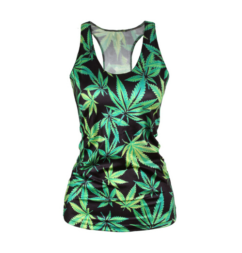 Pop Culture Printed Camisole Tank Top - Leafy Greens - Alternative Measures -