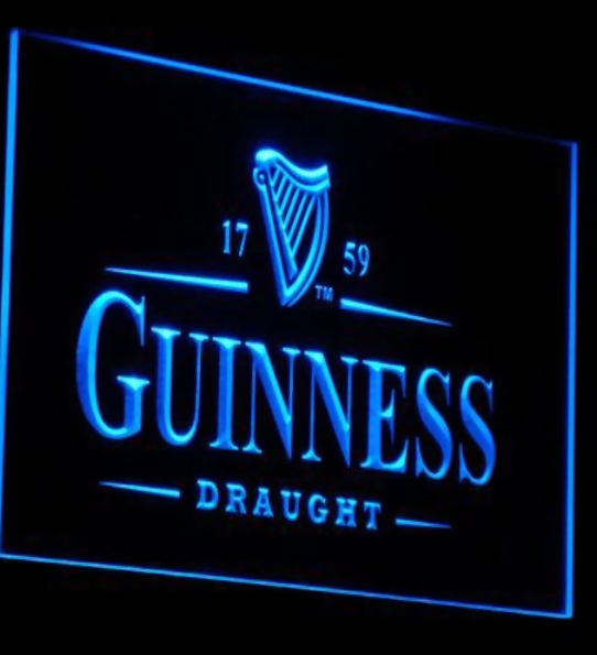 Business Supplies - Guiness Draught Novelty Neon Sign - Alternative Measures