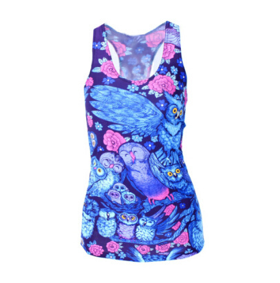 Pop Culture Printed Camisole Tank Top - Night Owls - Alternative Measures -
