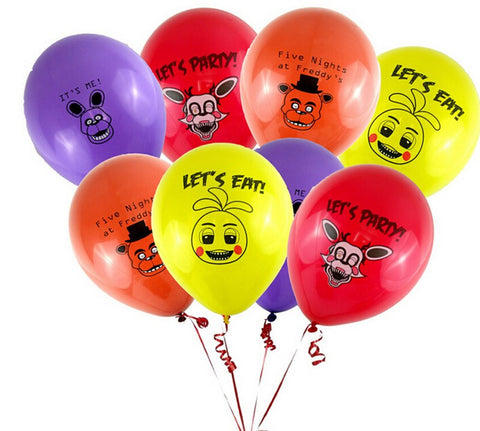 100pcs Five Nights At Freddy's FNAF Party Balloon 4 colors for selection 4 kinds ballons mixed figure toys - Alternative Measures