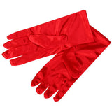 1 pair Fashion Women Girl Smooth Satin Wrist Gloves For  Prom Dance Short Gloves Free Shipping - Alternative Measures