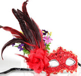 021373  A Halloween party mask peacock feathers masquerade paragraphs more optional mask half face adult - Alternative Measures
