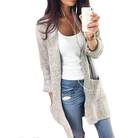 2016 Autumn Winter Fashion Women Cardigan Feminino Long Sleeve Loose Knitted Cardigans Ladies Sweater Female Coats Pull Femme - Alternative Measures