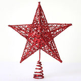 10-Inch/8-Inch/6-Inch Silver/Gold/Red Glitter Star Treetop - Alternative Measures
