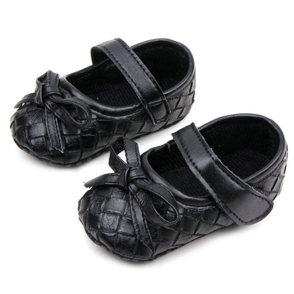 0-12M PU Leather Bowknot Lattice Girls Baby Shoes Soft Sole Anti Slip Toddler First Walker Shoes Free Shipping L4 - Alternative Measures