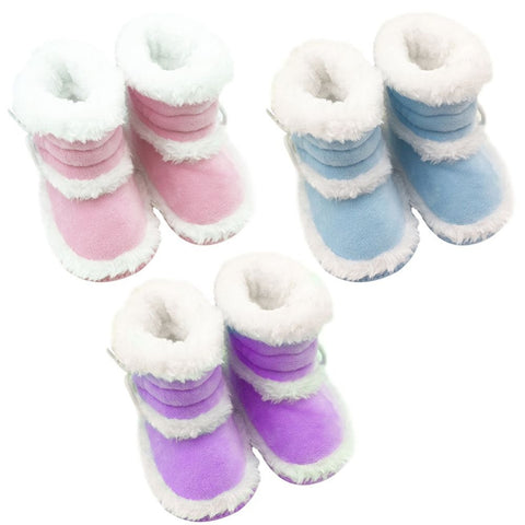 0-18 Months Toddler Baby Winter Warm Booties Girls Boy Soft Sole Boots Crib Infant Shoes New Prewalkers V3 - Alternative Measures