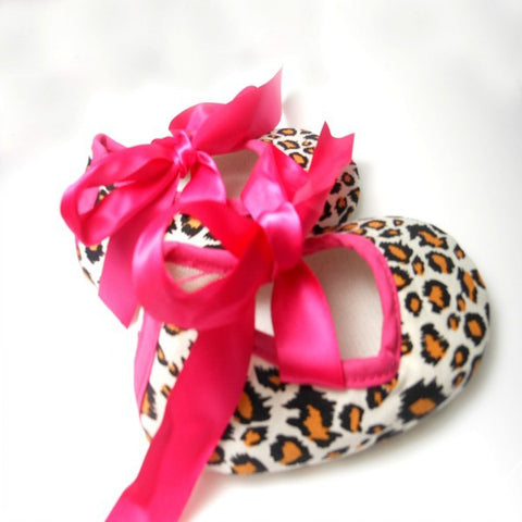 0-18M Hot  Toddler Baby Girls Leopard Ribbon Soft Sole Crib Shoes Sneaker Infant First Walkers 2016  L4 - Alternative Measures