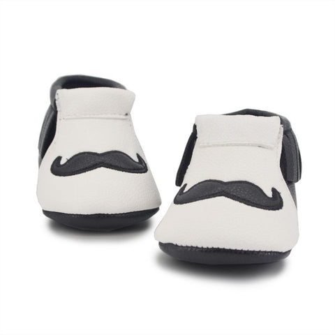 0-18 Months Baby Kids Tassel Fringe Crib Shoes Girls Boy Cute Moustache Beard PU Boot Shoes PY6 L4 - Alternative Measures