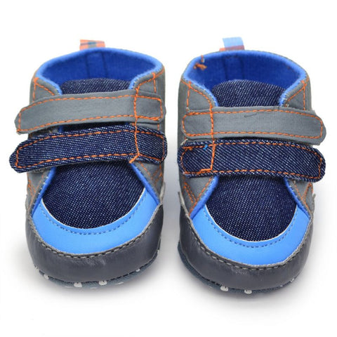 0-18M Baby Girls Bowknot Slip-On Crib Shoes PU Denim Bling Sneaker Soft Prewalkers ZT1 - Alternative Measures