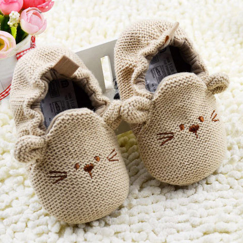 0-18M Infant Toddler Baby Newborn Boy Girl Knitted Crib Shoes Cartoon Elastic First Walkers Hot  L4 - Alternative Measures